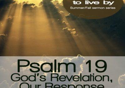 Psalm 19 – God's Revelation, Our Response